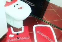 crochê jogo de banheiro