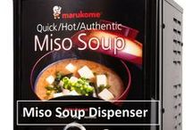 Miso Soup Dispenser / Check out marukome's miso soup dispenser. With one push of a button, you can get a fresh & authentic Japanese miso soup!!  http://www.marukomeusa.com/products_dispenser.html