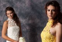 Lace wedding gowns / Wedding dresses decorated with lace.