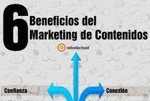 Marketing de contenidos - Content marketing / Infografías y artículos sobre la importancia del marketing de contenidos, Content Maketing en inglés, como herramienta para hacer crecer un negocio y cómo llevarlo a cabo