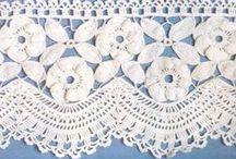 Crochet Edging   2༺✽*❦*❈*❦*✽༻ / by Çḯᵰȡỿ