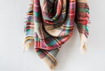 Scarves / Plaid and pattern loop scarves, blanket scarves and oversized scarves. Stay warm and cozy all winter without over spending.