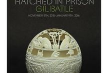 Gil Batle: Hatched in Prison / Batle is a self-taught artist who meticulously carves ostrich egg shells, converting them into fine sculptures chronicling his life in prison.
