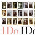 """I DO, I DO"" / June 29 -September 9, 2017. Nostalgic and conceptual. Presenting collections of nuptial cabinet card photographs (all produced by studios in Wisconsin) and vintage wedding cake toppers"