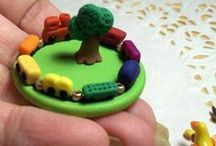 Miniature Kids' Room Polymer Clay