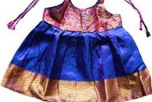 New Born Silk Frock / New Born & Toddler Traditional Frock.  Vibrant colours. Apt for Naming ceremony, Cradle ceremeny, Birthday  and temple visits . Pattu Langa . Pattu Frock . #pattu #frock #silk #langa #pattupavadai #pavadai