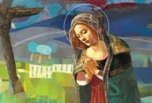 Our Lady / Let us run to Mary, and, as her little children, cast ourselves into her arms with a perfect confidence. Saint Francis de Sales 1567-1622.