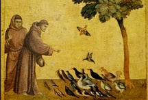 St Francis of Assisi / St Francis of Assisi, c.1181/1182 - 3 October, 1226, Italian Catholic friar and preacher. Founder of  the Franciscan Order, the women's Order of St. Clare, and the Third Order of Saint Francis.  Though he was never ordained to the Catholic priesthood, he is one of the most venerated religious figures in history. On 16 July, 1228, he was pronounced a Saint by Pope Gregory IX. Patron Saint of animals, the environment, and is one of the two patron Saints of Italy (with Catherine of Siena).