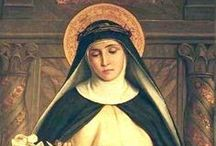 St Catherine of Siena / Saint Catherine of Siena, T.O.S.D, 25 March 1347 in Siena – 29 April 1380 in Rome, was a tertiary of the Dominican Order, and a Scholastic philosopher and theologian. She also worked to bring the papacy of Gregory XI back to Rome from its displacement in France, and to establish peace among the Italian city-states. She is one of the two patron saints of Italy, together with St. Francis of Assisi. Her feast day is celebrated is celebrated on 29th, or 30th April. Source: Wikipedia.