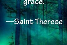 """St Therese of Lisieux / St Therese of Lisieux (January 2, 1873 – September 30, 1897), or Saint Thérèse of the Child Jesus and the Holy Face, O.C.D., was a French Discalced Carmelite nun. She is popularly known as """"The Little Flower of Jesus"""" or simply, """"The Little Flower"""". Pope Francis is devoted to St Therese: """"When I have a problem I ask the saint, not to solve it, but to take it in her hands and help me accept it."""""""