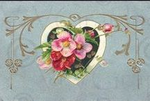 """Vintage Valentine / """"I love thee to the depth and breadth and height my soul can reach.""""  ~ Elizabeth Barrett Browning"""