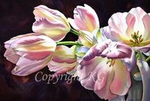 Paintings:  Flowers / by Colleen Park