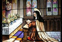 St Teresa of Avila / Teresa of Ávila, also called Saint Teresa of Jesus, baptized as Teresa Sánchez de Cepeda y Ahumada (28 March 1515 – 4 October 1582), is a Roman Catholic Saint. She was a Spanish mystic, Carmelite nun, author of 'The Interior Castle' and other writings. She was a reformer of the Carmelite Order and was the founder of the Discalced Carmelites, along with John of the Cross.