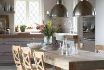 Dining room ideas / The dining room is a gathering place for friends and family. A fantastic statement lighting piece is the perfect way to add a wow factor!
