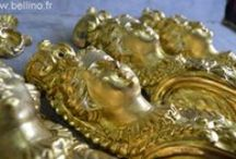 Dorure d'antiquités en bronze et orfèvrerie / Restauration et patine de dorures sur bronze et orfèvrerie.