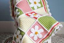Крючок: пледы, одеяла