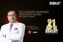 #21YearsOfAapKiAdalat - Grand Celebrations / India TV celebrated the glorious 21 year-long journey of Aap Ki Adalat, India's longest-running Television show hosted by Rajat Sharma. This has been an eventful journey, which began in 1993 and the show is still going strong, attracting millions of new viewers week after week to add to the already existing huge base of appointment viewers who watch this show regularly on weekends. (#21YearsOfAapKiAdalat)  For More Info Visit: http://www.indiatvnews.com/aap-ki-adalat-21-years/