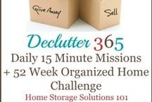 Declutter Calendar: 15 Minute Daily Missions For Month / Post series by Home Storage Solutions 101 for everyday decluttering! Σειρά άρθρων από το Home Storage Solutions 101 για ξεκαθάρισμα καθημερινά!