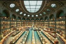 libraries with art ! // biblioteques amb art ! // bibliotecas con arte / simple art around the world