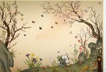 Mural wallpaper Oriental / mural wallpaper 한국 동양화의 멋을 벽지에 담은 휴아트 '비원' 벽지  Home decoration