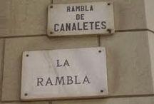 Les Rambles / Las Ramblas de Barcelona / Un passeig emblemàtic de Barcelona que discorre entre la plaça de Catalunya i el Port Vell de Barcelona.  ------------------------------------------------------------ A landmark tour of the city of Barcelona which runs between Plaza de Catalunya and the old port . -------------------------------------------------------------- Un emblemático paseo de la ciudad de Barcelona que discurre entre la Plaza de Cataluña, y el puerto antiguo.
