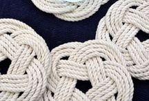 DIY: Knoten / Knoten, Knüpfen. Makramee, verknoten, knot, knotting