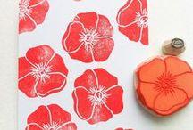 DIY: Stempel / Stempel selber machen; Material bestempeln, Stempel. DIY stamps