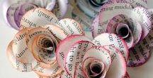 DIY: Papier- und Stoff- Blumen / Stoffblumen, Papierblumen, Blumen, Blumendeko, Kunstblumen, DIY Blumen, DIY Papierblumen, DIY Stoffblumen, Blumen selbstgemacht