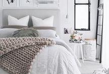 Wohnen: Schlafzimmer / Bedroom / Schlafzimmer dekorieren, einrichten, Interieur, Schlafplatz,