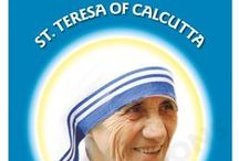 St Teresa of Calcutta 'Mother Teresa' Books, Posters, Display-Boards, Lectern Frontals and Banners / Blessed Mother Teresa was canonised on 4 September 2016 at the Vatican, becoming St. Teresa of Calcutta