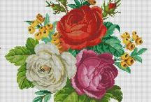 Handmade Roses / I love English roses! They are gorgeous! Some of them are represented in jewelry, accessories, cross stitch, embroidery, etc. Enjoy these beautiful roses! / by Marta Andrusenko