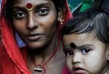 Indian Mamas / Indian Mothers.  Colorful beauty.  Maternal love.  Hope.  Somebody's Mama.