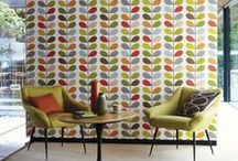 Orla Kiely Wallpapers / Orla Kiely is an internationally renowned designer, whose creative world was founded in 1995 to express visually her love for pattern, colour and texture. Her graphic approach to simplify and stylise everyday motifs alongside clean orderly repeat constructions achieves a very modern style, while her love for all things mid-century brings a warm nostalgic quality, creating a brand that has become a byword for inspirational design.