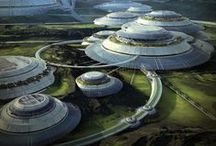 SciFi locations - Alien planets & worlds / Inspirational SciFi locations, like alien planets, futuristic worlds, landscapes & buildings