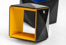 Modular Carbon Collection / First results of Vanda's experiments with carbon fiber were showcased at the Hungarian Design Award's product category in 2011. It consisted of square and other rectangular forms based on geometry, which can be strung in diverse ways.