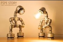 PIPE LAMPS / PIPE STORY Produce and sell genuine handmade industrial vintage style pipe lamps. South KOREA http://www.pipestory.com