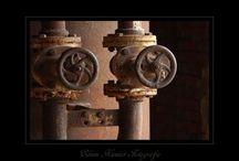 Fotografie Old Industry - Edwin Kiewiet Fotografie / Old Industry, oude gebouwen en onderdelen daarvan vastleggen, soms in b/w om het te benadrukken ....