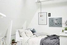 Bedroom / Senge, dyner, puder og natborde