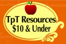 TpT Products $10 & Under! / Teachers pay Teachers Resources $10 and Under! This is a COLLABORATIVE board.   Some Basic Rules - Please do not repin the same pin over and over on the board.  It may be deleted. Thank you.