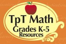 TpT Grades K-5 Math / Teachers pay Teachers Grades K-5 Math Resources!  Excellent products for educators, teachers, & homeschoolers! This is a COLLABORATIVE board.  If you wish to join please email me at mooreeducresources@yahoo.com.