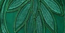 enchanting : shades of green / I always felt that green is the color of enchantment, just look at the emerging young shoots in spring in the midst of an emerald valley ....all objects, art, clothing is just inspired imitations....oh but so beautiful!