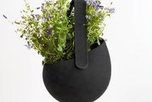 JOKJOR Sling - Hanging baskets / The JOKJOR SLING is a silicon hanging basket which comes in many different colours to mach the style of each space.