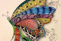 Drawings, Paintings, Zentangle