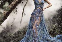 Šaty  výnimočné / Šaty svadobné, plesové, alebo výnimočné strihom, farbou a zdobením