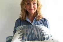 SUSANNE SCHJERNING STUDIO / Working in my Studio, handprinting textiles and making Unika products. www.susanneschjerning.dk