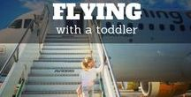 Flying With A Toddler / Who am I kidding by saying that it's a piece of cake to fly with a toddler? Not you – I am sure. Usually the aim of the game is how quiet you can keep the little Duracell bunny. Rule number one, don't try to be too smart!  Want more tips? http://travelmadmum.com/flying-with-a-toddler/