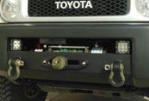 Toyota FJ Winch Mount / Photos of our Toyota FJ Winch mount.