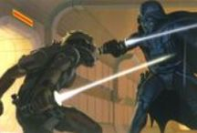 The Original Star Wars Concept Art / A fancy and at boundaries-of-kitsch concept artworks by Ralph McQuarrie. They were helping to send George Lucas idea to the real thing.