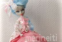 Fashion dolls and Playscale Miniatures / Fashion doll clothing, doll repaints, custom dolls. One sixth scale miniatures. Barbie, Fashion Royalty, Monster High, celebrity figurines etc.