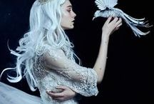 Snow White / White, soft, feminine, vulnerable, etherical, magical and light. Fairy tale.
